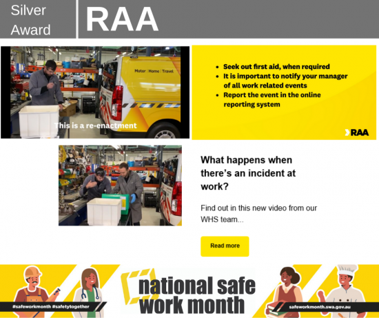 RAA safe work month comp entry