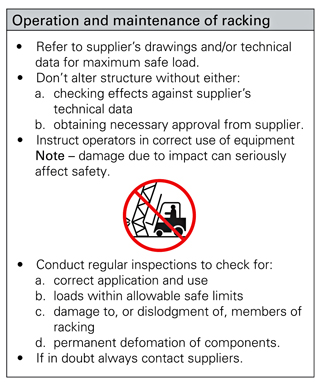 Example of supplier's operating instruction sign