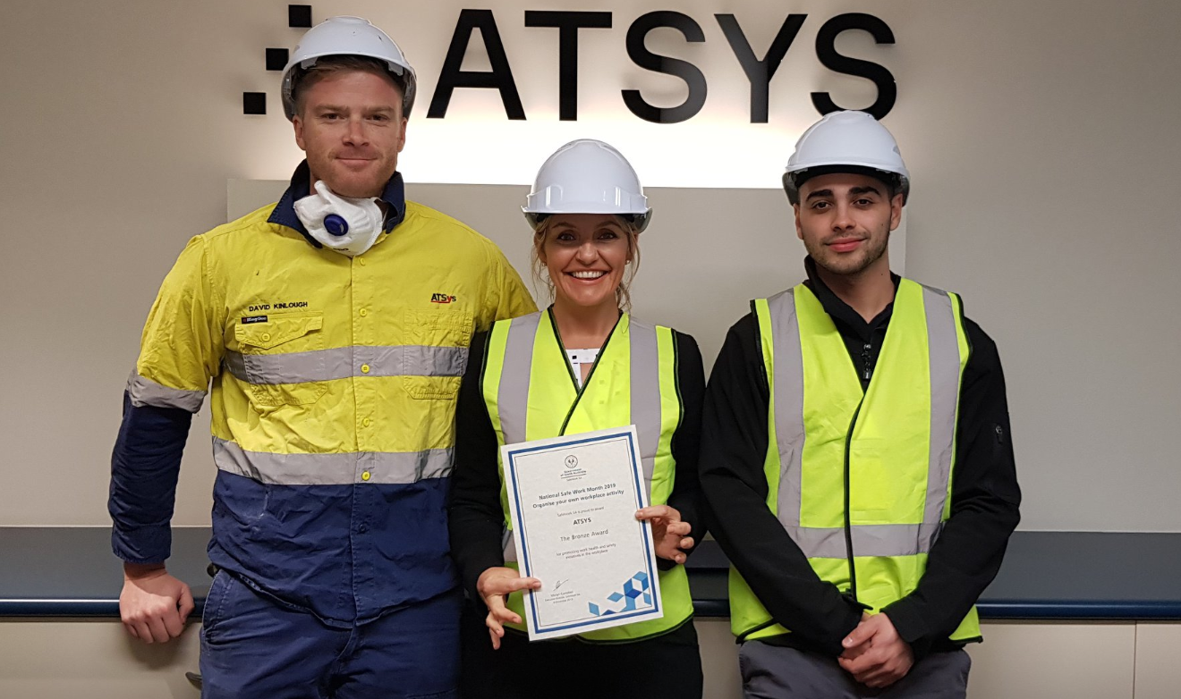 ATYS staff with their winner's certificate