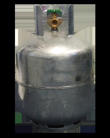 9kg galvanised gas cylinder