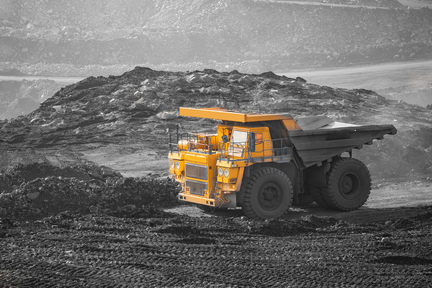 Truck operating in a mine